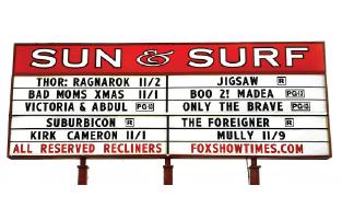 Sun & Surf Cinema Sign